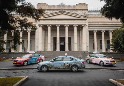 Дизайн MAPPA на автомобилях такси Ситимобил